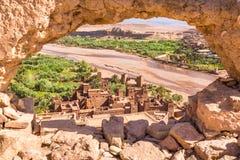 Vue d'Ait Benhaddou Kasbah, Ait Ben Haddou, Ouarzazate, Maroc Images libres de droits