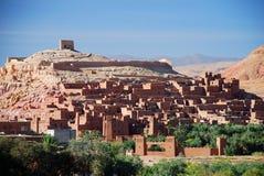 Vue d'Ait Benhaddou, Souss-Massa-Drâa, Maroc images libres de droits