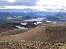 Vue d'Alftavatn Photo stock