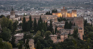 Vue d'Alhambra Image stock
