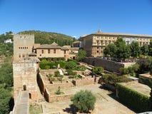 Vue d'Alhambra image libre de droits