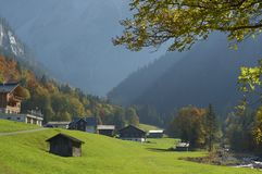 Vue d'Alpin Photographie stock