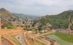 Vue d'Amber Fort, Jaipur, Ràjasthàn, Inde Images stock