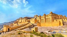 Vue d'Amer Fort à Jaipur Une attraction touristique importante au Ràjasthàn, Inde Photographie stock