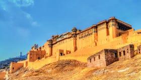 Vue d'Amer Fort à Jaipur Une attraction touristique importante au Ràjasthàn, Inde Photos stock
