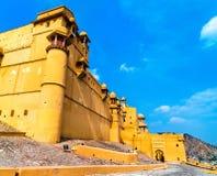 Vue d'Amer Fort à Jaipur Une attraction touristique importante au Ràjasthàn, Inde Photo stock