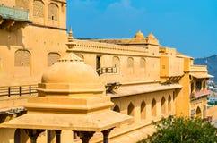 Vue d'Amer Fort à Jaipur Une attraction touristique importante au Ràjasthàn, Inde Photos libres de droits