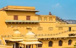 Vue d'Amer Fort à Jaipur Une attraction touristique importante au Ràjasthàn, Inde Images stock