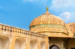 Vue d'Amer Fort à Jaipur Une attraction touristique importante au Ràjasthàn, Inde Photographie stock libre de droits