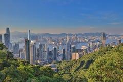 Vue d'Amirauté et de Wan Chai, Photo stock