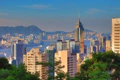 Vue d'Amirauté et de Wan Chai, Photographie stock