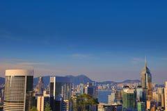 Vue d'Amirauté et de Wan Chai, Photo libre de droits