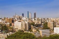Vue d'Amman, capitale de la Jordanie Photos stock