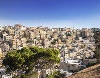 Vue d'Amman, capitale de la Jordanie Image libre de droits