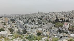 Vue d'Amman de la vieille citadelle image libre de droits