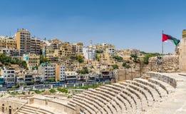 Vue d'Amman de Roman Theater Photographie stock libre de droits