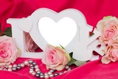 Vue d'amour avec des roses Photos stock