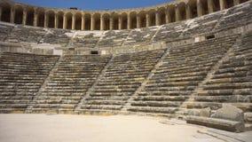 Vue d'amphithéâtre antique banque de vidéos
