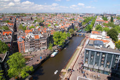 Vue d'Amsterdam Photo stock