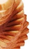 Vue d'angle de pain de pain grillé photographie stock