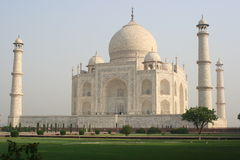 Vue d'angle de Taj Mahal Photographie stock