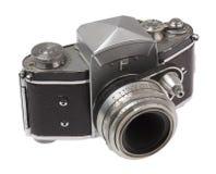 Vue d'angle de vieil appareil-photo Images libres de droits