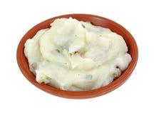 Vue d'angle servante de purée de pommes de terre Photos libres de droits