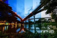 Vue d'angle d'Uprisen d'autoroute urbaine Photographie stock libre de droits