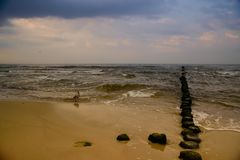 Vue d'après-midi de mer baltique image libre de droits