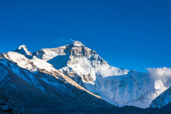 Vue d'après-midi de Mt. Chomolangma Image libre de droits