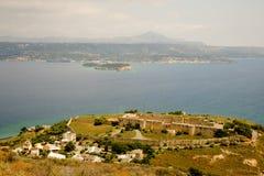 Vue d'Aptera antique, Crète, Grèce Photo libre de droits