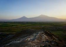 Vue d'Ararat de montagne de Khor Virap image libre de droits