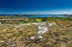 Vue d'Archipelag d'île de Hitra à Snillfjord Photographie stock