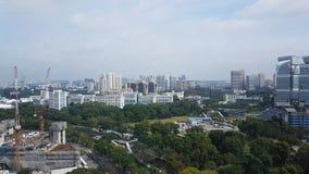 Vue d'Arial d'horizontal de Singapour Image libre de droits