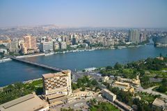 Vue d'Ariel de tour du Caire photos libres de droits