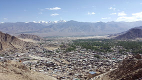 Vue d'Ariel de ville de Leh Photo stock