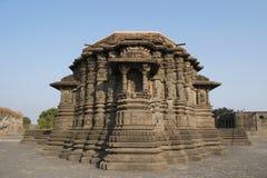 Vue d'arri?re, temple de Daitya Soudan, Lonar, secteur de Buldhana, maharashtra, Inde photographie stock