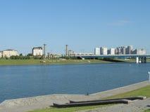 Vue d'Astana - côté gauche de la ville photos stock