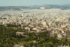 Vue d'Athènes Photographie stock libre de droits