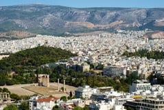 Vue d'Athènes Photo libre de droits