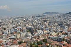 Vue d'Athènes d'Acropole Image libre de droits
