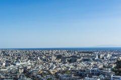 Vue d'Athènes d'Acropole Photo libre de droits