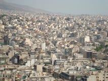 Vue d'Athènes de support Lycabettus Image stock