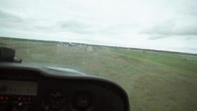 Vue d'atterrissage d'avions de carlingue clips vidéos