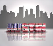 Vue d'Austin City Image stock
