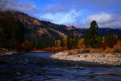 Vue d'automne d'Alder Creek Photo stock
