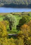 Vue d'automne de lac Viljandi Image libre de droits