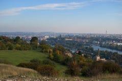 Vue d'automne de Prague Photos stock