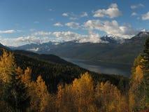 Vue d'automne de Slocan Valley Photos libres de droits