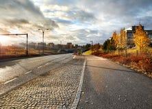 Vue d'automne de Vantaa Finlande photo stock